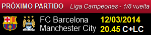 FC Barcelona vs Manchester City (Champions League 2013-2014)
