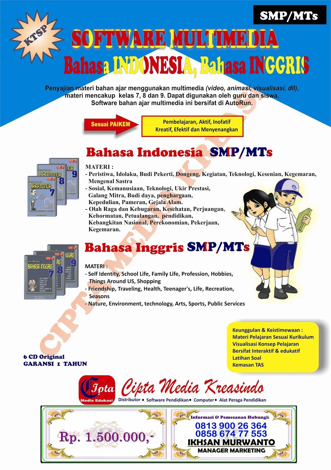 Mata Pelajaran: BAHASA INDONESIA & BAHASA INGGRIS Kelas : 7,8,9