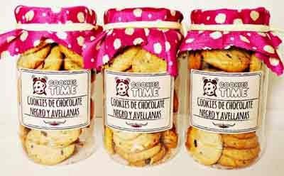 galletas caseras de choco negro y avellanas