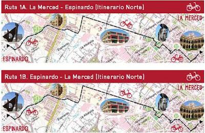 """Al campus pedaleando"" ruta 1A"