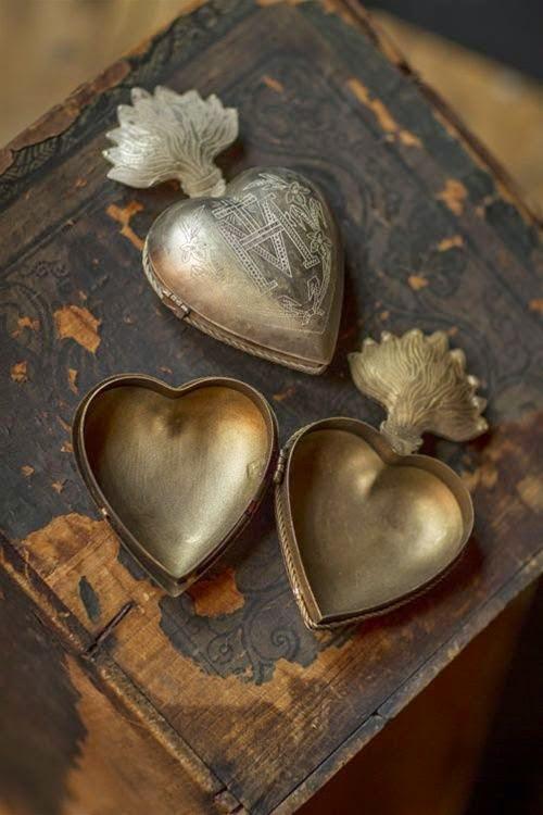 Monogrammed tin heart