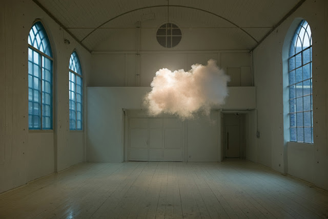 Cloud in house art contemporary environmental