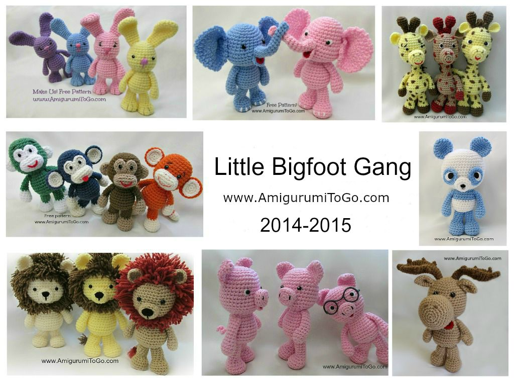 Amigurumi I To Go : One Big Gang In One Spot ~ Amigurumi To Go