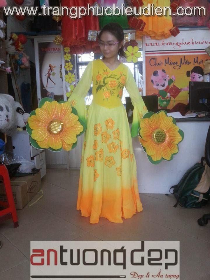 bán thuê váy múa hoa mai