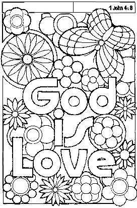 god is love coloring pages - coloring god love page free coloring pages