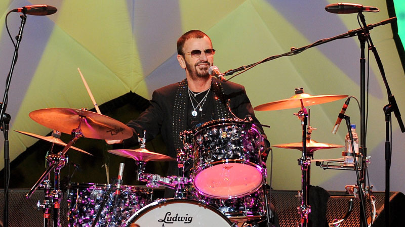 Ringo starr playing drums ringo starr gave his drum kit