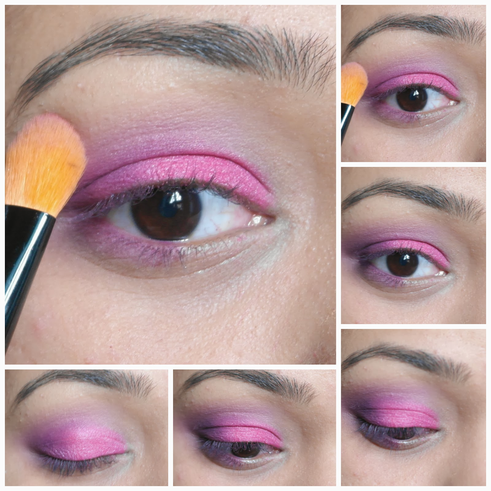 eyeshadow blending techniques-eyeshadow tutorial-pink purple eyeshadow tutorial