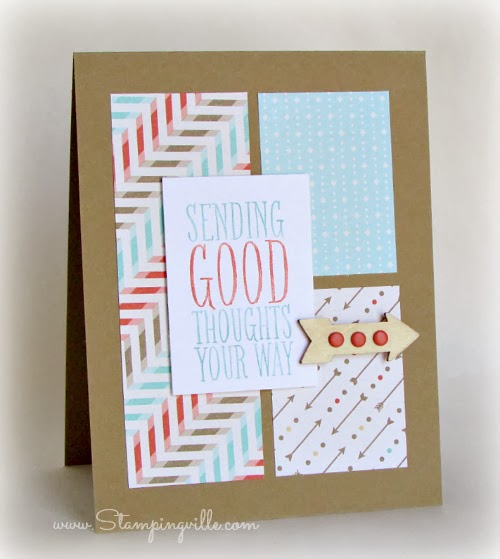 Sending Good Thoughts Card by Stampingville