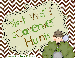 Dolch Sight Words Scavenger Hunts