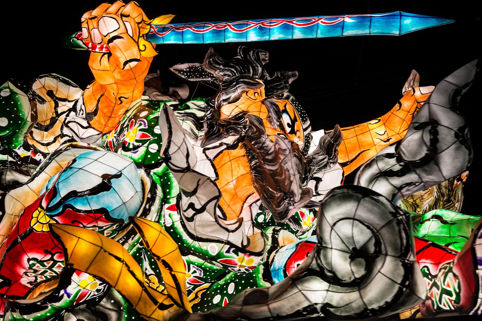 羽衣ねぶた祭り、山車燈籠の写真