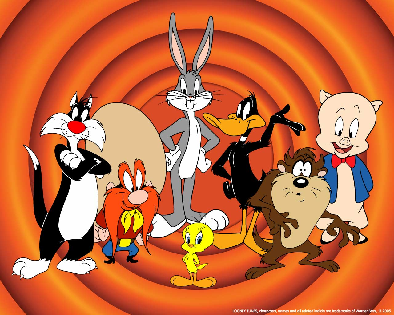 american top cartoons looney tunes wallpaper. Black Bedroom Furniture Sets. Home Design Ideas