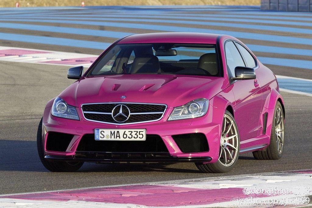 China garage we just love cars pink mercedes c63 for Pink mercedes benz