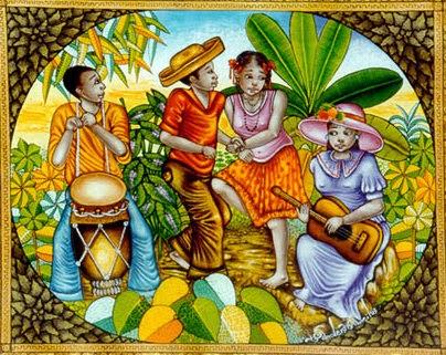 Haitianarts painting novios party