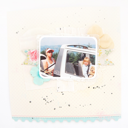 Scrapbook Layouts | Journalling With Paint and Layers