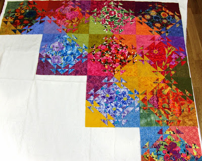 Robin Atkins, shimmer quilt, ten completed blocks