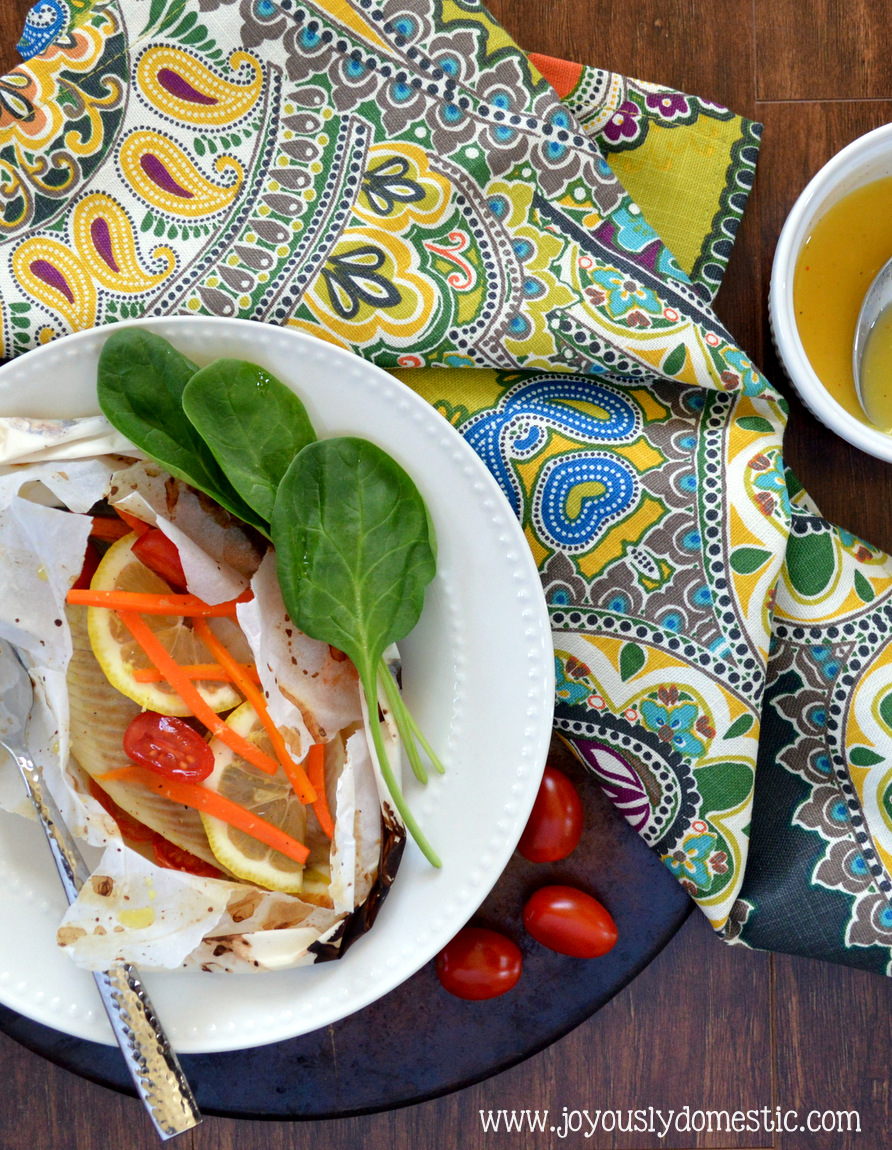 Joyously domestic citrus ginger fish en papillote fish for Cooking fish in parchment paper