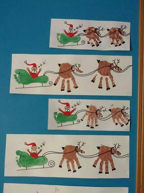 DIY Handprints Christmas Decors