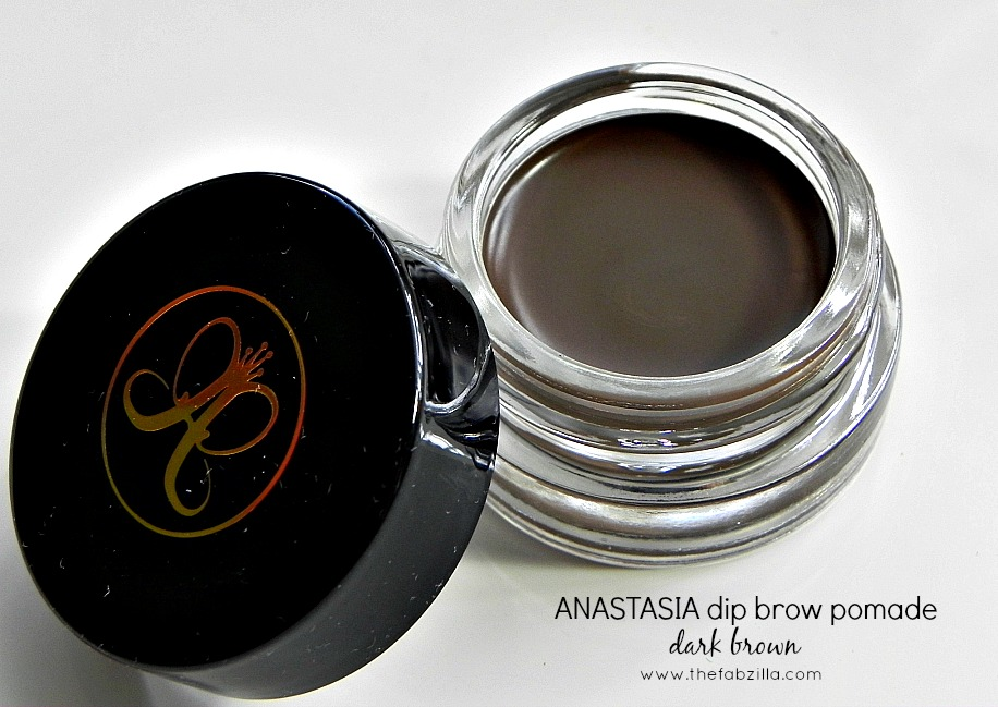 how to groom eyebrows, how to fill in eyebrows, review anastasia dip brow pomade