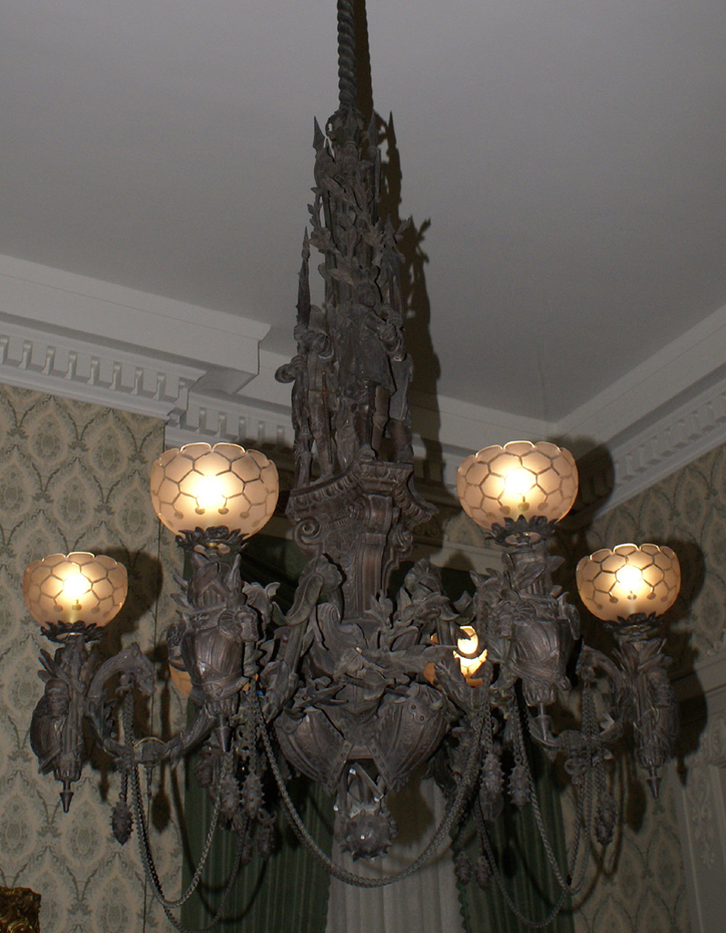 All things halloween a grand antique bronze chandelier i just had to include it totally looks haunted to me mozeypictures Choice Image