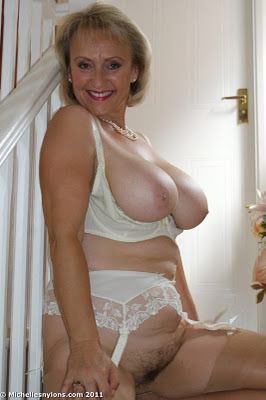 Horny Wife Michelle In Lingerie and Nylon Stockings