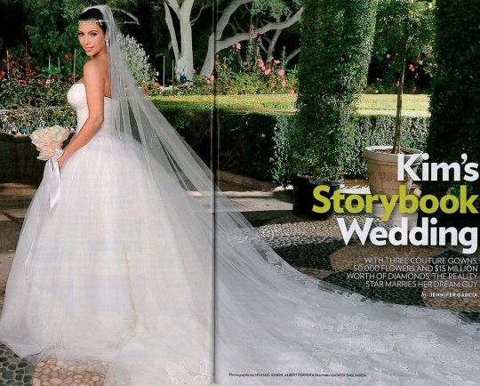 Kim Kardashian 39s many wedding dresses