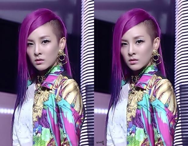 2ne1 Minzy Purple Hair