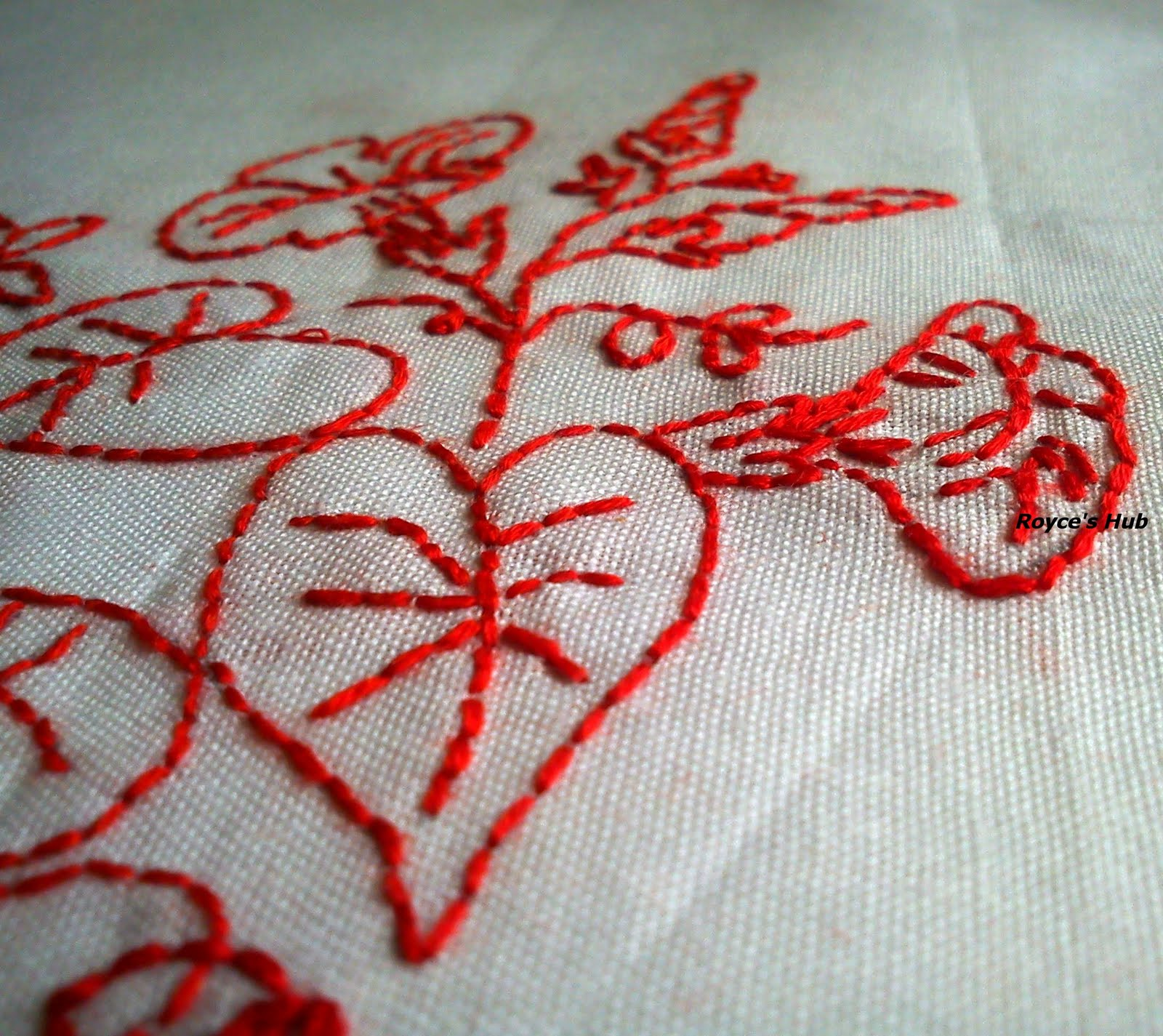 Royce s hub basic embroidery stitches back stitch in
