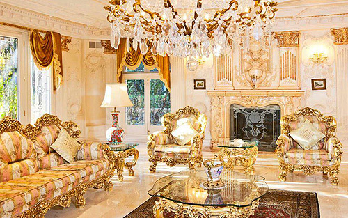 A mcmansion in bel air of questionable decor for French chateau style decor