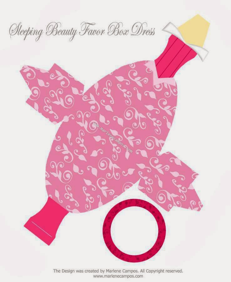 Cute Free Printable Sleeping Beauty Party Favor Box Is