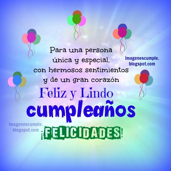 Feliz y Lindo Cumpleaños. Imagen de Cumple por Mery Bracho. Postales únicas, tarjetas para felicitar amigo, hombre, mujer con buenos deseos de cumpleaños.