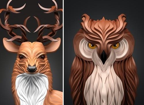00-Maxim-Shkret-Digital-Origami-Animal-Art-www-designstack-co