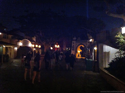 Disneyland Adventureland After Hours Closed night dark shops