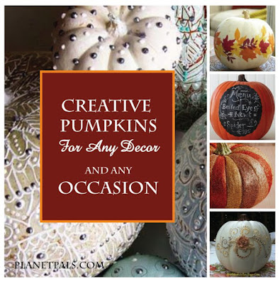 12 Crafty and Creative Ways To Decorate Pumpkins