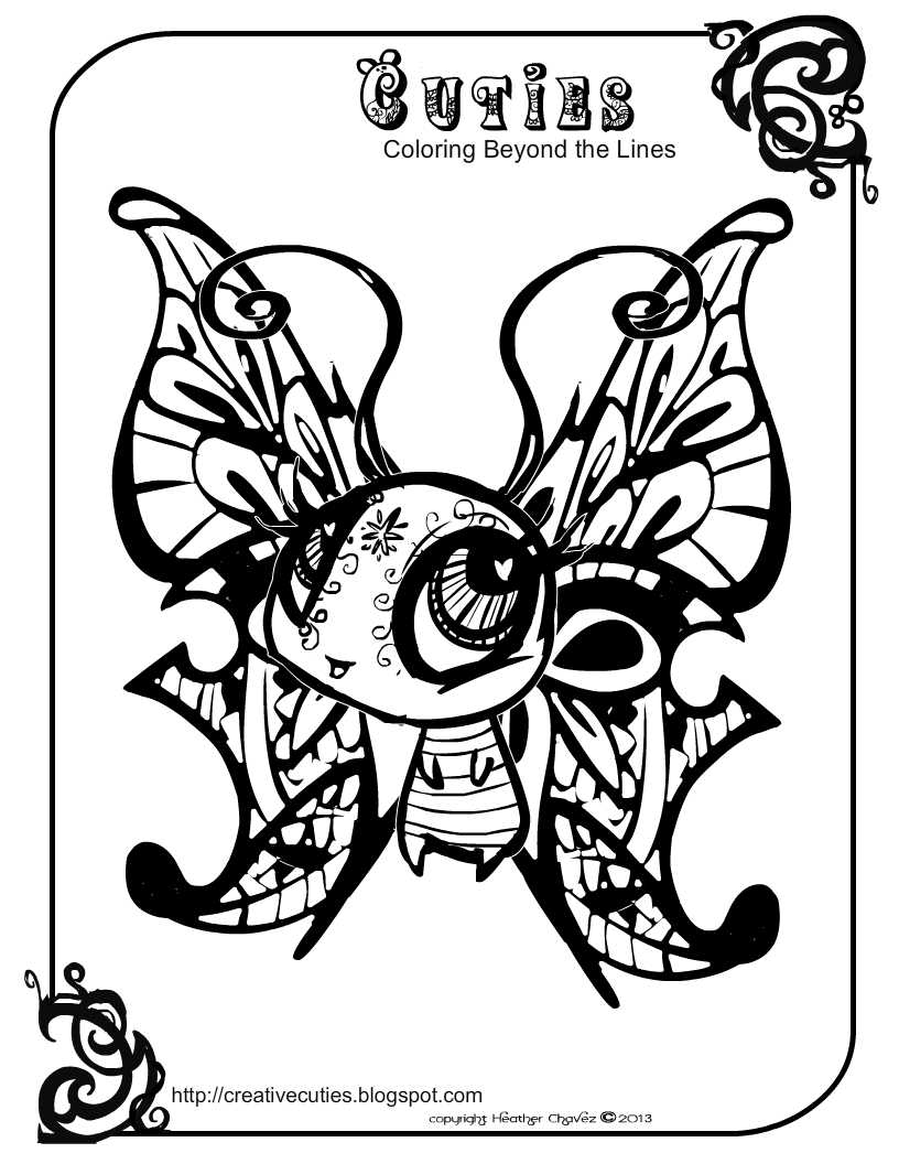 creative cuties coloring pages - creative cuties cutie butterfly