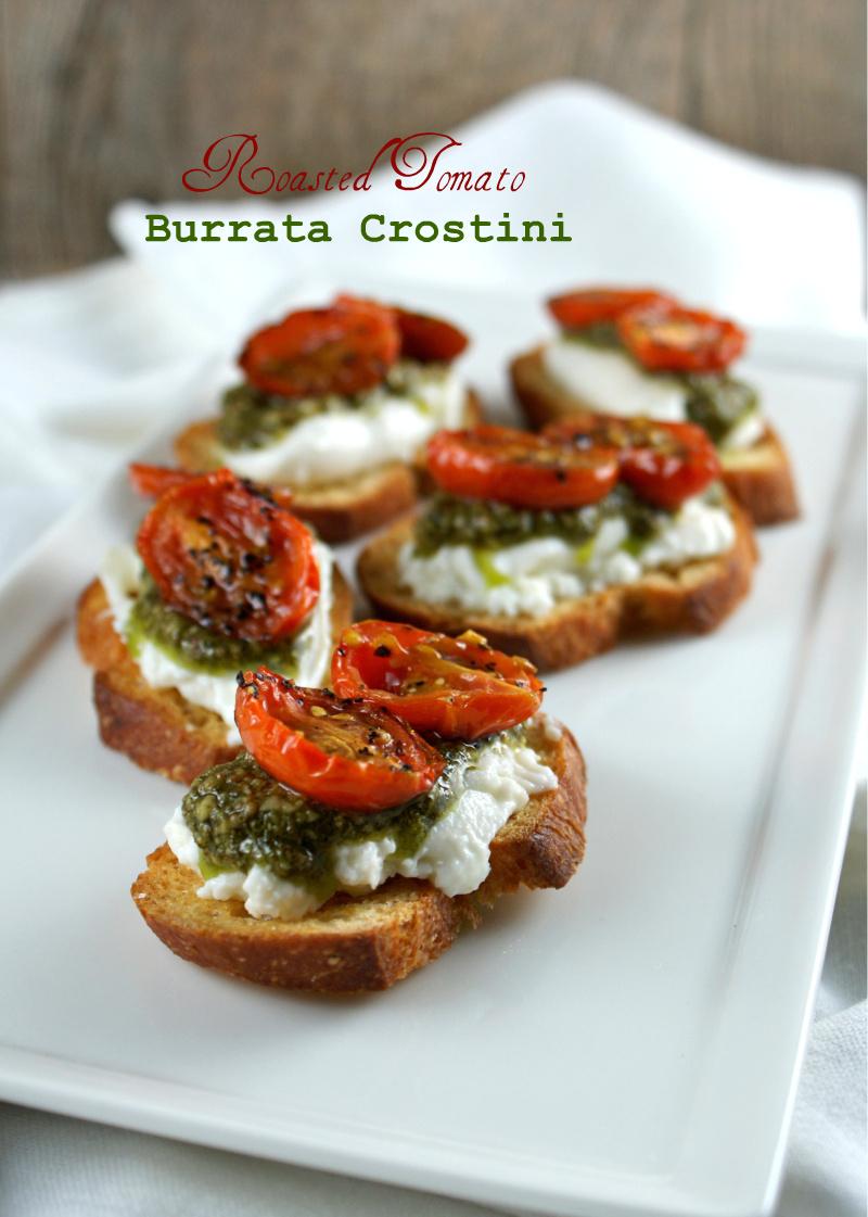 ... Suburban Gourmet: Friday Night Bites   Roasted Tomato Burrata Crostini