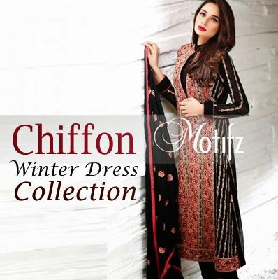 Motifz Chiffon Winter Dress Collection