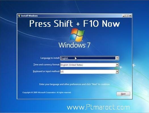 Open CMD during Windows setup