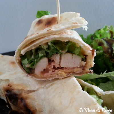 Illustration des wraps poulet bacon & cheddar