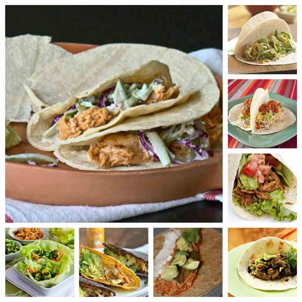 15 recipes for slow cooker chicken tacos from food Something different to make for dinner