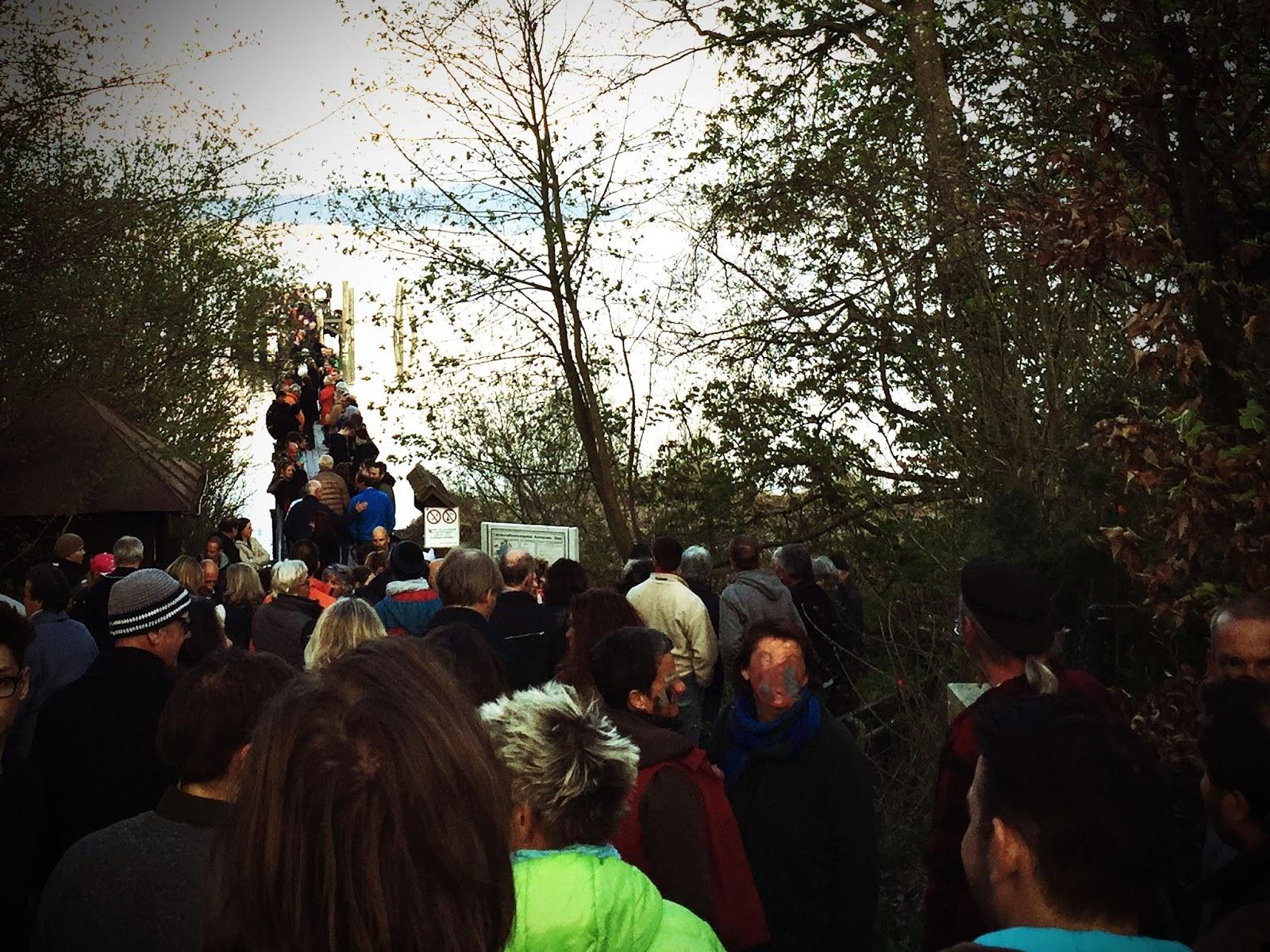 Demonstration für den Schutz der Holzhausener Bucht am Ammersee