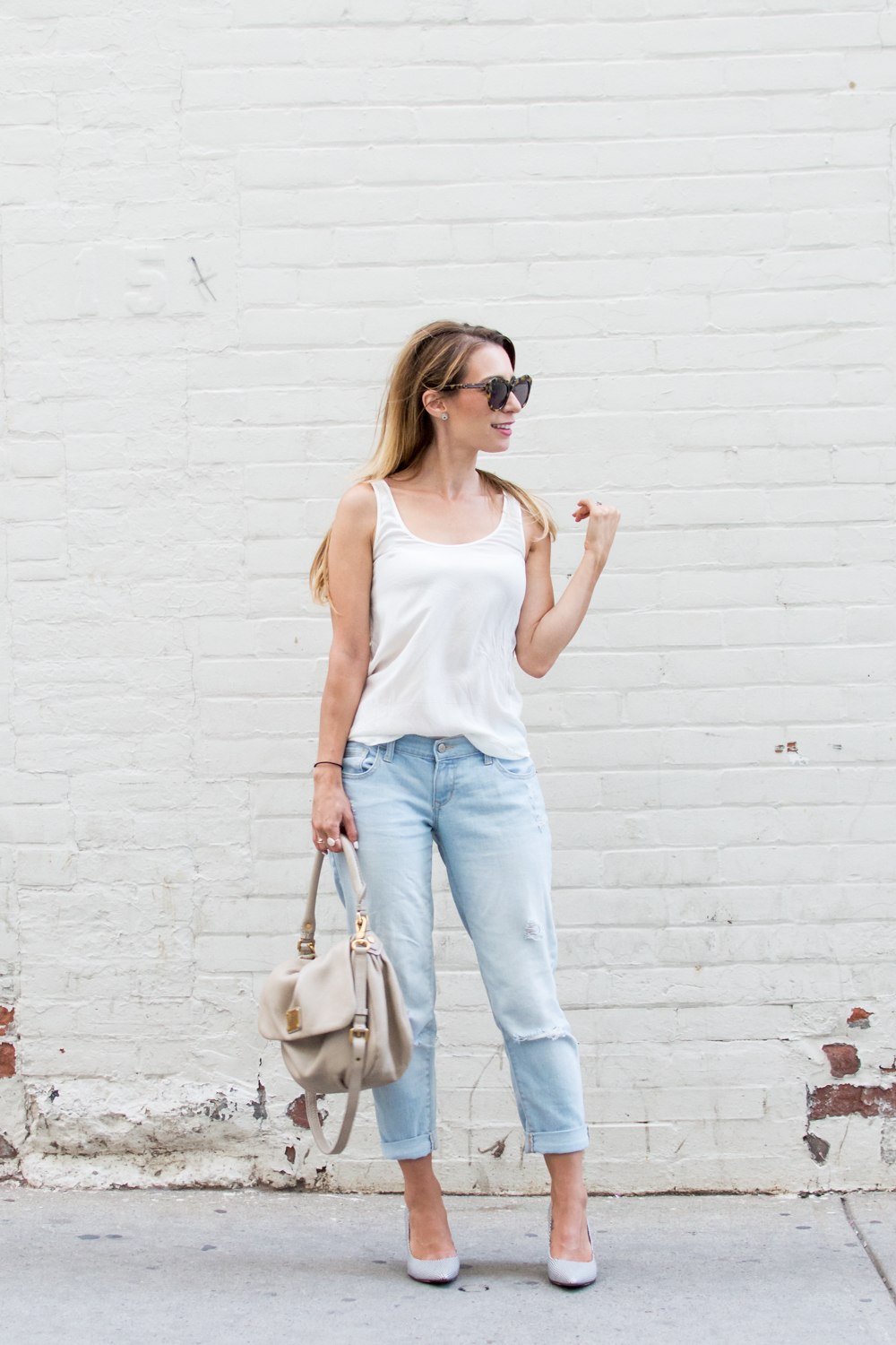 old navy boyfriend jeans club monaco shoes outfit