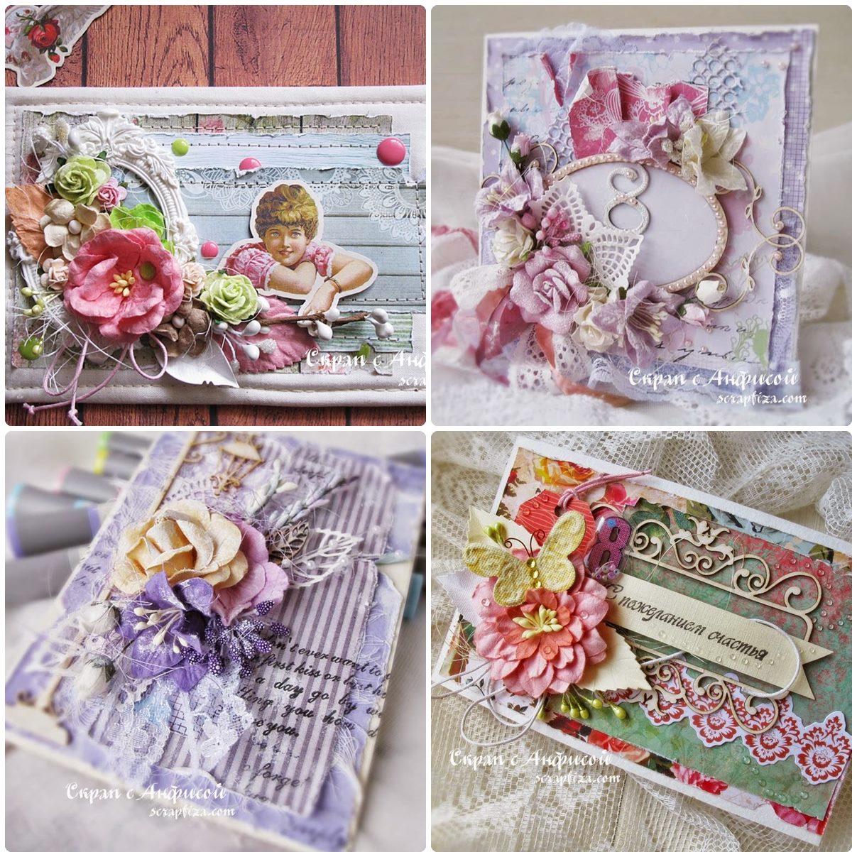 Композиции из цветов в скрапбукинге