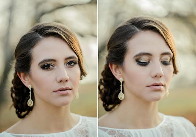 Złoty makijaż ślubny