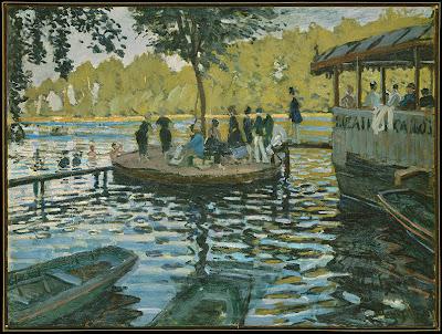 Monet - La Grenouillère (1869) - MET New York