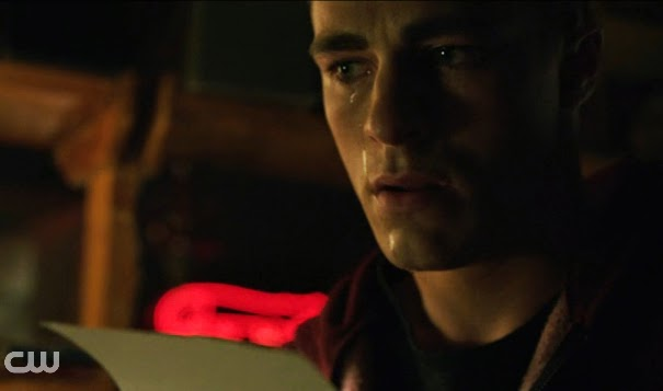 Roy crying tears streaming down face Colton Haynes Arrow