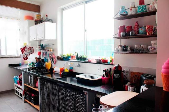 Preto na decoração de cozinhas