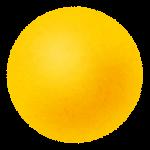 玉・ボールのイラスト(黄色)