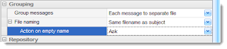 Grouping email exported to .pdf files.