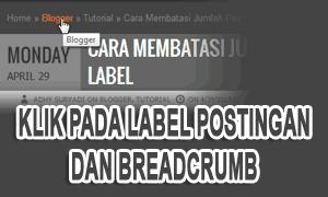 Membatasi Jumlah Post Pada Label Postingan Dan Breadcrumb