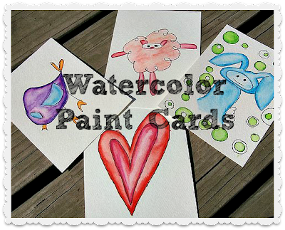 Tutorial: DIY Watercolor Paint Cards